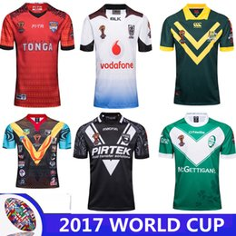 Wholesale Australia Army - 2017 2018 World Cup NRL Jersey England rugby shirt 17 18 kiwi tonga rugby Jerseys SAMOA kiwis NRL National Rugby League Australia shirts