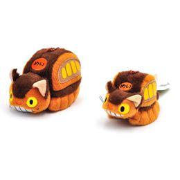brinquedos do ônibus do gato Desconto Meu Vizinho Totoro Cat Bus Plush Toy Recheadas Boneca de Pelúcia Liga Chaveiro Anel Chave Do Carro