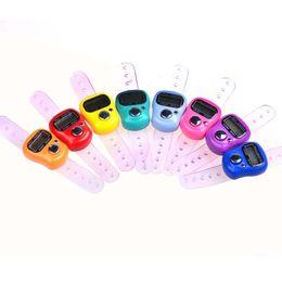 Fingerring tally online-Digital-LCD-Bildschirm-Anzeigen-Zähler-Meter Portable einfach zu verwenden Finger-Ring-weiche elektronische Zählzähler populäres 1hq BB