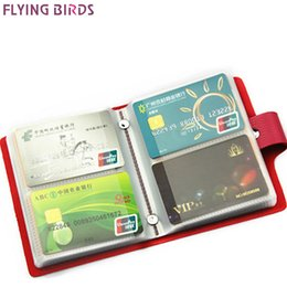 Wholesale Chocolate Birds - FLYING BIRDS card holder bag name ID Business Card Holder bag High Quality women &men Leather 60 Bank  Case LS8981fb