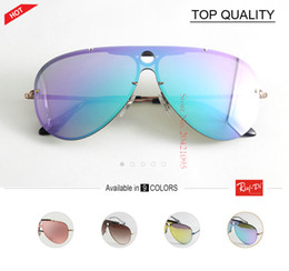 Wholesale Flash Drive Boxes - new best Men Women flash blaze 3581 Sunglasses Brand Design pilot Metal Glasses gradient UV400 Driving Gafas De Sol Masculino lens With Box