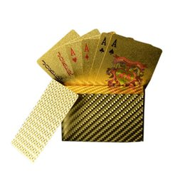 Wholesale Play Style Games - 200pcs hot 3 designs Gold foil plated playing cards Plastic Poker US dollar   Euro Style   General style