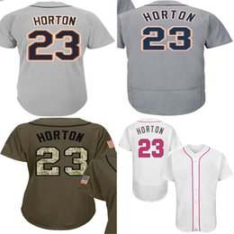 Wholesale womens jersey tops - Wholesale Mens Womens Kids Toddlers Detroit 23 Willie Horton White Green Grey Stitched Top Quality Cheap Baseball Jerseys
