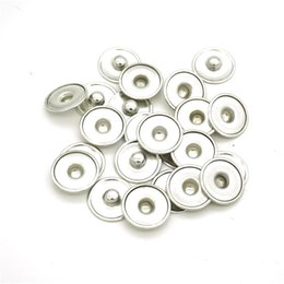 Wholesale Clasps Hooks - Min Order 100pcs lot 18mm Noosa Ginger Snap Base Interchangeable Accessories for Jewelry Snap Button Base