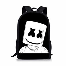 Hot Sale Children Marshmello School Bags Little Boys Travel Backpacks Girl  Satchel 3D Printing Design Kids daily Backpack 04f72f3644591