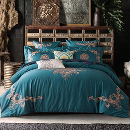 Wholesale Embroidered Satin Bedding Sets - PanlongHome 60S Long Plush Cotton Embroidery Bedding Set Cotton Satin Bedding Set Quilt Bed Sheets Hotel Home