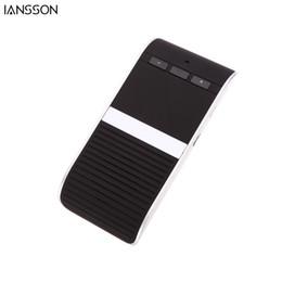 Carregadores de carro solares on-line-Sem fio Do Carro Kit Handsfree Bluetooth 4.0 Mãos Livres Speakerphone Solar Powered Charger 10 m de Distância Mãos Livres Suporte Do Carro 2 Telefones Speaker