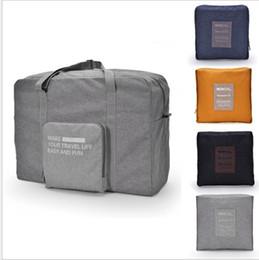 Wholesale Foldable Travel Bags - Travel Luggage Bag Fashion Women Folding Carry-on Duffle Bag Foldable Portable Bag Zipper Bags 4 color LJJK959