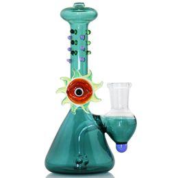 Mysterious EYE clear glass bong water pipes Mini bubbler glass cenicero brazos percolador bongs dab plataformas petrolíferas