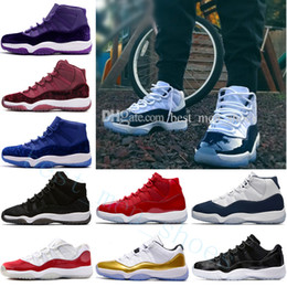 Canada Vente chaude NOUVEAU 11 XI Casual Chaussures Hommes Femmes 11 s Gym Red Midnight Navy Bred Espace Jam 45 11s Concords Lune Landing Sneakers Chaussures de plein air supplier land for sale Offre