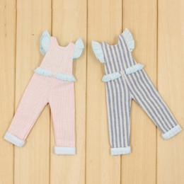 poupée coquine Promotion pour les poupées Poupée Blyth rose et bleu rayé Combinaison pour le costume JOINT du corps vilain et mignon ICY NEO