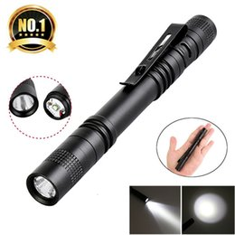 led pocket pen Coupons - Pen Clip LED Flashlight 1 Mode Battery Operation 300LM Pen Light Pen Light Pocket Outdoor Waterproof Penlight Torch