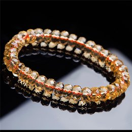 Honey Newly Natural Red Hair Rutilated Quartz Round Beads 9mm Crystal Bracelet Women Men Clear Stone Aaaaa Gift Bracelet Jewelry Fine Jewelry