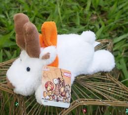 2019 toy goats Orange Schal Ziege Kühlschrankmagnet Plüschtiere Babypuppe Kühlschrank Stick Plüschtiere catton Stofftiere CA028 rabatt toy goats