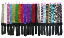 Wholesale glitter headband softball - HOT SALE Glitter Headbands Elastic Stretch Sparkly Headband for Teens Girls Women Softball Volleyball Sports Teams hair band 30pcs