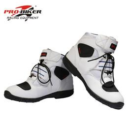 2019 botas moteras de moto Envío gratis profesional de la motocicleta botas hombres motorbiker botas botas motocicletas moto zapatos de carreras pro motorista, tamaño 40-45 negro botas moteras de moto baratos
