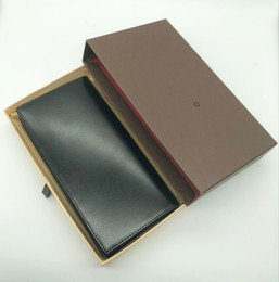 Wholesale Bright Christmas - The latest 2018MB men's business suit wallet credit card holder bright leather designer craftsman's process pocket business card box photo