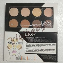 Review online-Dropshipping NYX Highlight Contour Pro Pattle Recensione Viso Powder Powder Foundation Grooming Shadow Powder Palette Trucco Cosmetico 8 colori