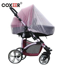 Wholesale Pink Baby Carriers - coxeer Baby Safe Cradles Mosquito Net For Stroller Carriers Insect Bug Netting With Full Cover Bed Canopy Ciel De Lit Pink Blue