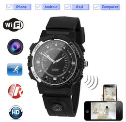 Wholesale hd ir watch - Wrist Watch Camera Wireless Remote Monitoring Camera HD IP P2P IR Night Version DV Video Audio Recorder