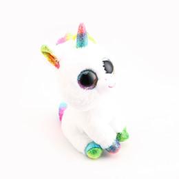 8662d4de597 Stuffed Animals Stuffed Plush Animals Ty Beanie Boos Big Eyes White Unicorn  Plush Toy Doll 10 - 15cm TY Baby For