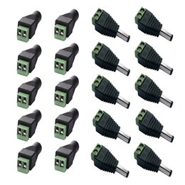 2019 adapterkabel gleichstrom 2,1 mm x 5,5 mm DC Power Weiblich Männlich Jack Adapter Kabelstecker Für CCTV / 5050 3528 Led-streifen Licht günstig adapterkabel gleichstrom