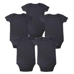 Одежда для тела онлайн-Tender Babies Place New унисекс Мальчик Детская одежда Baby Newborn Body Black 100% мягкий хлопок 0-12 месяцев с коротким рукавом