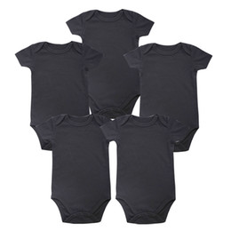 Tender Babies Place New унисекс Мальчик Детская одежда Baby Newborn Body Black 100% мягкий хлопок 0-12 месяцев с коротким рукавом от