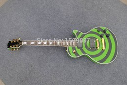 Wholesale Zakk Wylde Emg - Free Gifts !!! Free shipping Zakk Wylde electric guitar, Green and black, EMG pickups, Golden Hardware