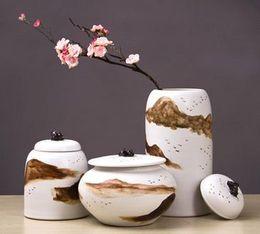 Wholesale Hand Painted Porcelain Vases - Ceramic tea pot hand-painted handicraft porcelain ornaments Chinese Seminal Hotel