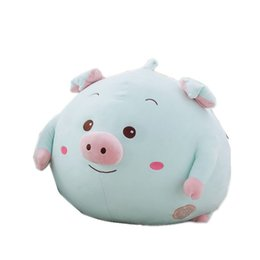 Wholesale Cute Pig Plush Toy - 20161215 Software Feather Cotton Round Ball Cute Pig Pillow Back Cushion Birthday Presant For Children Or Adult