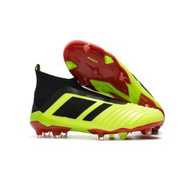Wholesale New Boots For Men - 2018 New Predator 18+ 18.1 FG Soccer Cleats Chaussures Football Boots Mens Designer Sports Running Shoes for Men Sneakers Casual Trainers