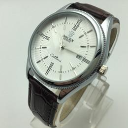 55f5e70d19a Famosa Marca Mens Relógios Top De Luxo Militar À Prova D  Água Pulseira De  Couro Relógio De Quartzo Dos Homens de Design Exclusivo Oco Calendário Dos  Homens ...
