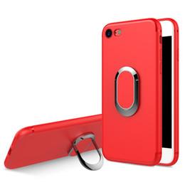 Argentina Caja del teléfono celular para el iphone 6 6s 7 8 más caso suave mate del teléfono de TPU con el anillo de la adsorción del imán Suministro