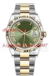 18k золотые часы из нержавеющей стали Скидка Роскошный нейтральный m126203 m126231 m126233 36MM 18K желтое золото нержавеющая сталь азия ETA 2813 механизм автоматические мужские часы часы