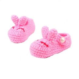 Argentina Casual Cuna Bebé 1Pair Crochet Calzado hecho a mano Cute baby Girl / BoyWoolen Zapatos Infant Walker Calcetín Knit niños Suministro
