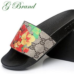 Wholesale Free Flower Designs - 3D Print Flower Sandals Meilisa Brand Slippers Causal Slide Stripe Design Huaraches Flip Flops Loafers Scuffs Free DHL Shipping