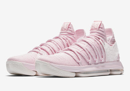 Wholesale kd low tops - Top Quality KD 10 Aunt Pearl shoes for sale Kevin Durant Basketball shoes store free shipping AQ4110-600