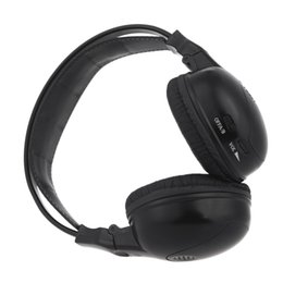 Wholesale double car dvd player - Infrared Stereo Double-channel Wireless Headphone Headset IR Car Headrest DVD Player