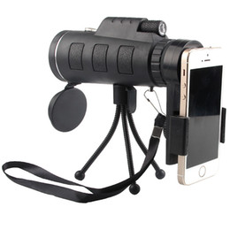 Wholesale Images Watches - 40X60 Monocular Telescope HD Night Vision Prism Scope Portable with Phone Clip for Bird watching hunting
