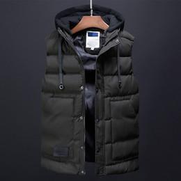 Koreanische männer winterweste online-Männer Wintermantel Mode Weste Herrenbekleidung Korean Streetwear Männlichen Trenchcoat Daunenjacken Designer Kleid Lässige Westen für Männer