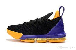 super popular 1105c 63b08 nike LeBron James 16 Cere di alta qualità viola lakers oro uguaglianza James  scarpe da basket da uomo James sneaker da uomo piccolo imperatore 23