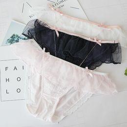 Wholesale Ladies Ruffle Panties - QUCO Brand New Women's cotton panties Girl Briefs cotton underwear bikini underwear sexy Ladies Briefs Free shipping W27