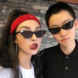 Wholesale Transparent Red Box - Cat eye sunglasses for women little box fashion sunglasses transparent triangle glasses tide