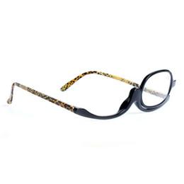 54d0044cf9b2 Chinese Makeup Reading Glasses Women Lady Make Up Eyeglasses Magnifying  Eyewear Black Plastic Frame Magnifier Eye