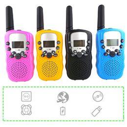 tocha de rádio led Desconto 1 Pcs Rádio Em Dois Sentidos Portátil Handheld Walkie Talkie para Crianças com Built-in Led tocha Mini Brinquedo Presentes para Crianças Menino Meninas