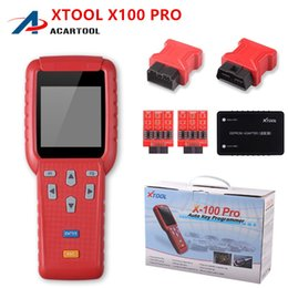 Wholesale pro tools support - Original Diagnostic tool XTOOL X100 Pro Auto Key Programmer With EEPROM Adapters support Odometer Mileage adjustment Free Update