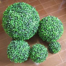 2019 ornamenti palla diy Green Grass Ball Plastic Plant Ornament Decorazione per feste Garden Decor Decorazione per matrimoni Fiori artificiali Palla fai da te sconti ornamenti palla diy