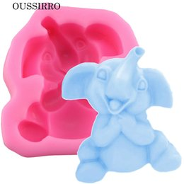 Wholesale Molds For Candy - DIY Baking Mold Elephant Cake Silicone Molds For Fondant Cake Decorating Tools Chocolate Candy Soap Candle Clay Moulds YB200312
