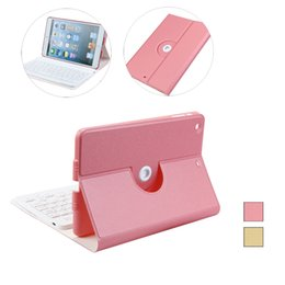 Wholesale Ipad Smart Cover Keyboard - Smart Leather Case Cover with Bluetooth Wireless Keyboard For iPad Mini 1 2 3 Fashion Convenience 17Sept26